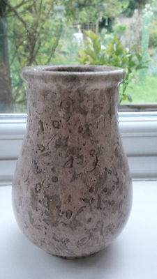 "BRITISH FOSSIL ~ BEAUTIFUL 6"" FOSSILSTONE MARBLE FLUTED VASE"