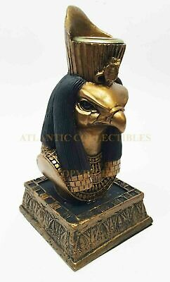Ancient Egyptian Bird Falcon Head God Horus Candle Holder Home Decor