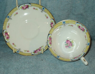 Vintage Paragon Cup and Saucer Yellow Red Roses