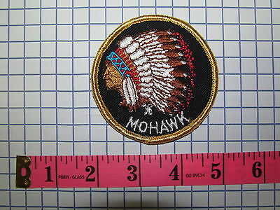*** 1 VINTAGE 70S MOHAWK CHIEF INDIAN NATIVE PATCH ***