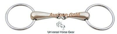 Loose Ring Snaffle Horse Bit - Aurigan Gold French Link BS176Cup