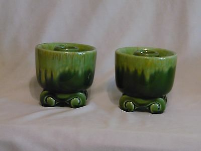 Vintage Haeger Art Pottery Candlestick Holders~ Pair  USA Number 3067