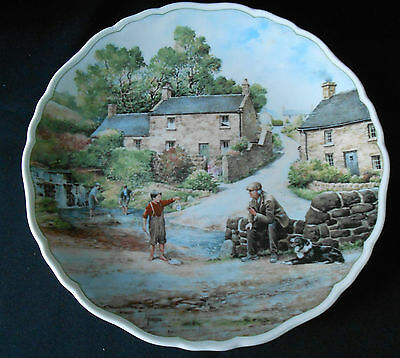 Royal Doulton  Plate Country Life by Anthony Forester-The Young Fisherman