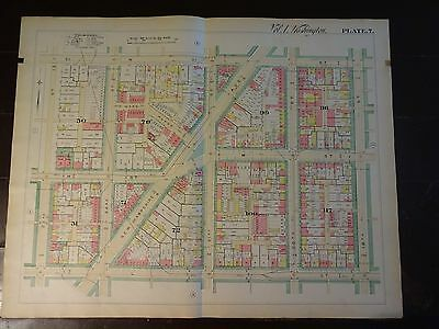 1892 Map of NW DC-West End Area 23rd to 19th-Rare large Property specific detail