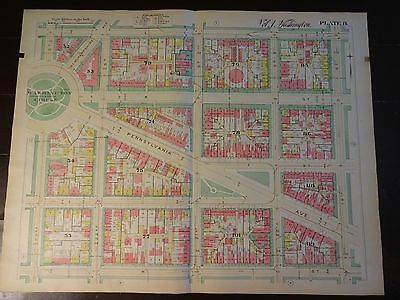 1892 Map of NW DC - East of Wash Circle-Rare large property specific detail.