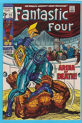 Fantastic Four #93 Marvel Comics 1969 Stan Lee Jack Kirby VF/NM Nice Copy!!!