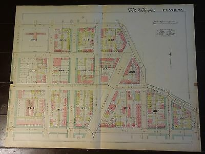1892 Map of NW DC- Shaw 'hood 13th to 7th - Rare large property specific detail