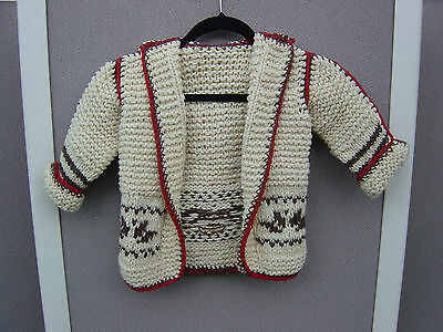 All Wool Hand-Knitted Kids Sweater