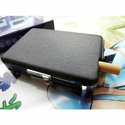 Cigarette Case & Lighter Automatic Ejection Butane Windproof Metal Box Holder EB