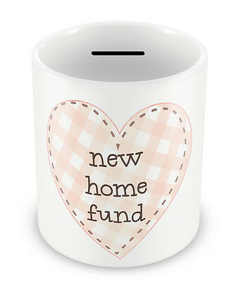 New Home Fund - Money Box Piggy Bank First time buyers gift idea pot penny #59