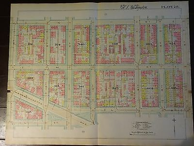 1892 Map of NW DC-East of Thomas Circle-Rare large property specific detail