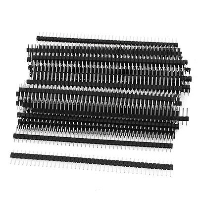 50 x Single Row 40Pin 2.54mm Male Pin Header Connector