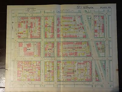 1892 Map of NW DC-LeDroit Park Q-T Streets - Rare large property specific detail