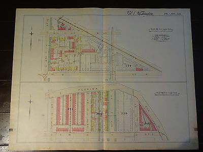1892 Map of NW DC-  Q & 3rd St/W & 13th St - Rare large property specific detail