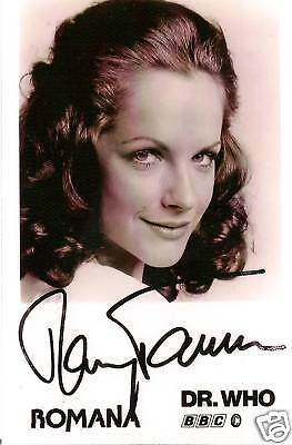 MARY TAMM DR WHO ROMANA SIGNED AUTOGRAPH 6 x 4 PRE PRINTED PHOTO POSTCARD SIZE