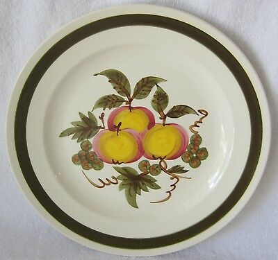 STANGL APPLE DELIGHT DINNER PLATE - 10 INCHES - WHITEWARE