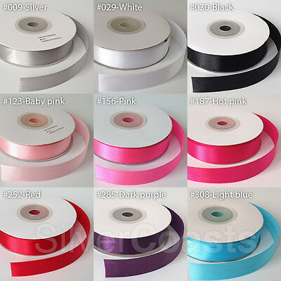 22meter Full Reel 15mm Satin Ribbon High quality Roll Scrapbooking Craft 25yards
