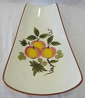 STANGL APPLE DELIGHT FOOTED RELISH TRAY