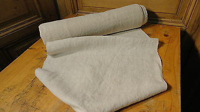 Homespun Linen Hemp/Flax Yardage 15 Yards x 19'' Plain  #5604