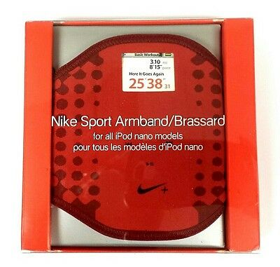 1x OR 2x RED NIKE SPORT ARMBAND BRASSARD FOR IPOD NANO AC1368 WORKOUT EXERCISE