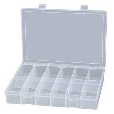 Compartment Box, Polypropylene Resin, Clear, Durham, LP12-CLEAR