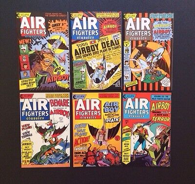AIR FIGHTERS CLASSICS Comic Books Golden Age AIRBOY Reprints #1-6 Complete Set