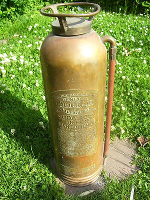 RARE COPPER AND BRASS FIRE EXTINGUSHERS