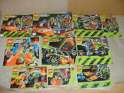 Used Lego Power Miners Instructions Only - No Lego. Spares Choose The 1 You Want