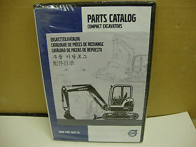 Volvo Compact Excavators Parts Catalogue Ec15 ~ Ec60 Ew55 ~ Ew60 Ecr60 ~ Ecr88