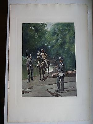 Beautiful Antique Print - INFANTRY, FULL DRESS, 1872-1881 - (c)1892 by G.B