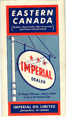 1940 Imperial (Esso) Eastern Canada Vintage Road Map