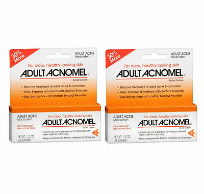 2 PACK Acnomel Adult Acne Medication 1.3oz 038485911610YN