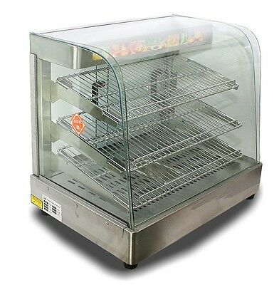"""New Commercial Countertop Stainless Steel Food Pizza Display Warmer 25""""x23""""x17"""""""