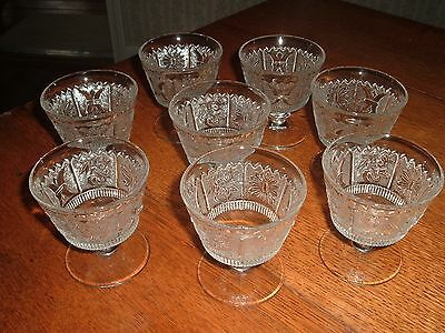 "Vintage Westmoreland Glass ""Princess Feather""  Pattern..8  Sherbets"