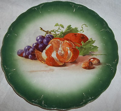 0326 Antique 1904 Decorator Plate With Fruit By Petrus Regout Holland
