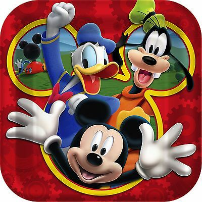 Disney Mickey Mouse Clubhouse Multi-Color Child Birthday Paper Plates Cup Napkin