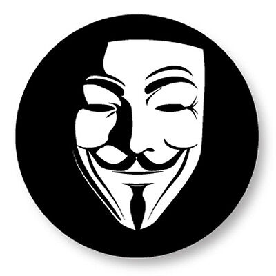 """Pin Button Badge Ø25mm 1"""" Anonymous Anonyme V pour Vendetta G Fawkes"""
