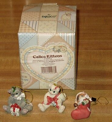 L@@k Calico Kittens Christmas Ornaments