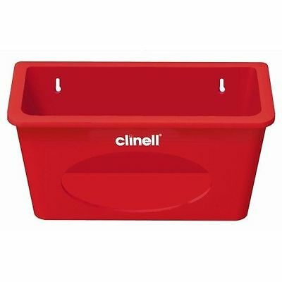 Clinell Sanitising Wipes Wall Mounted Plastic Dispenser -RED