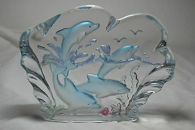 Dolphin Glass Decorative Paper Weight