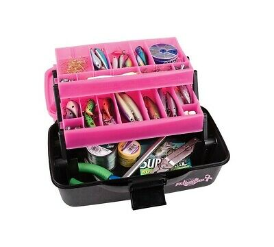 Flambeau Frost Series Pink 2 Tray Tackle Box - Made In U.S.A.