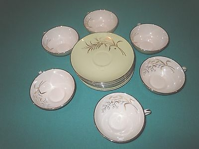 20 pc VTG FRANCISCAN FINE CHINA WILLOW BOUQUET Small Plates, Cups Saucers