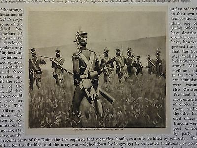 "Great B/W Print - ""INFANTRY ... ADVANCING, 1813-16"" Published in 1890 by G.B."