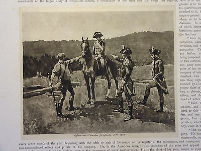 "Great B/W Print - ""OFFICER & PRIVATE ... 1799-1802"" Published in 1890 by G.B."