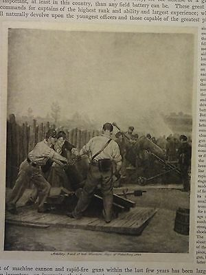 "Great B/W Print - ""ARTILLERY: ..., 1864"", Published in 1890 by G.B."