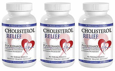 Cholesterol Reducing Supplement Complex w/ Policosanol Plant Sterols (3 Bottles)