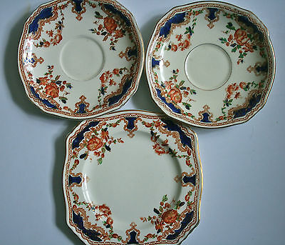 Royal Winton Grimwades Side/Bread & Butter Plate & 2 Saucers - Stirling #1921