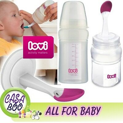 Multifunction baby bottle with Soft bowl spoon LOVI Easy Squeezy contains brush