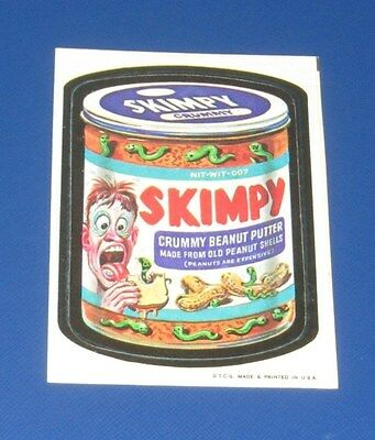 73 WACKY PACKAGES SERIES 1 TB TAN BACK SKIMPY    NM/NM-  @@  VERY RARE  @@