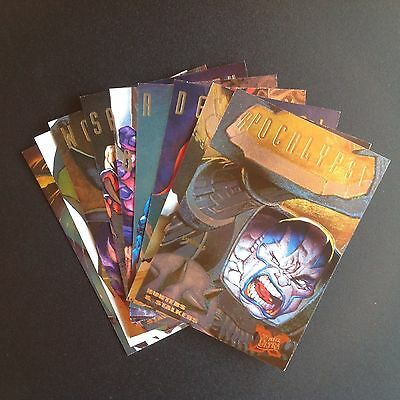 1995 ULTRA X MEN COMPLETE HUNTERS STALKERS MARVEL COMIC TRADING CARD CHASE SET